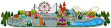 A Fun Amusement Park Map