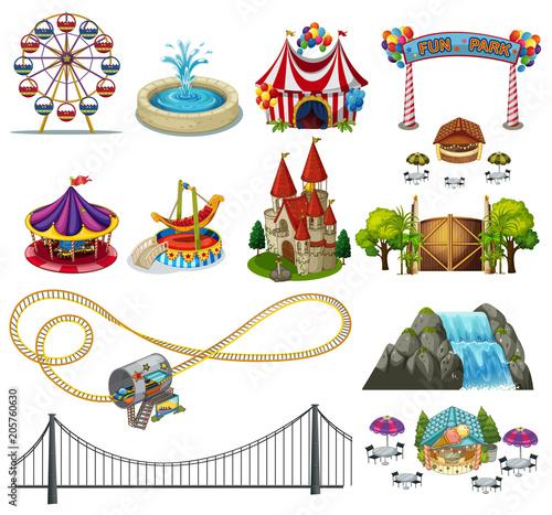 Papiers peints Jeunes enfants A Set of Theme Park Element