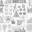 hand drawn doole diagrams seamless vector pattern