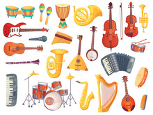 Cartoon Musical Instruments, G...