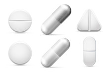 Round White Cure Pills, Aspiri...