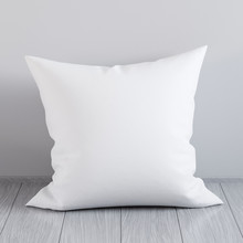 Blank White Soft Square Pillow...