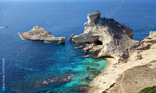 Fotografie, Obraz Plage Saint-Antoine à Bonifacio, Corse.
