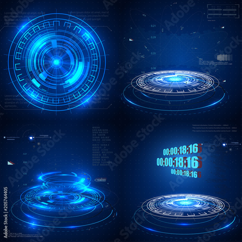 Fotomural Abstract technological background Vector illustration