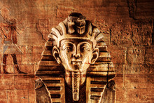 Stone Pharaoh Tutankhamen Mask