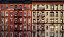New York City Building Wall Of Windows Background Pattern Texture