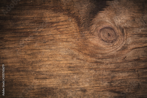 Tuinposter Hout Old grunge dark textured wooden background,The surface of the old brown wood texture,top view brown wood paneling