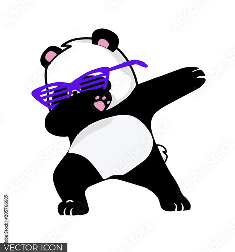 dabbing panda vector design buy this stock vector and explore