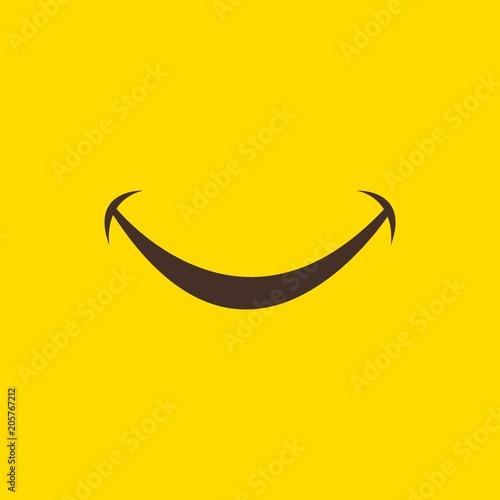 Smile Vector Template Design Illustration Wall mural