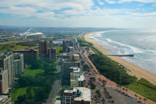 "Aerial View Of Durban ""Golden ..."