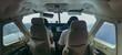 Pilots in cockpit during flight, Philippines, Coron, Palawan