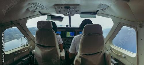 Valokuva  Pilots in cockpit during flight, Philippines, Coron, Palawan