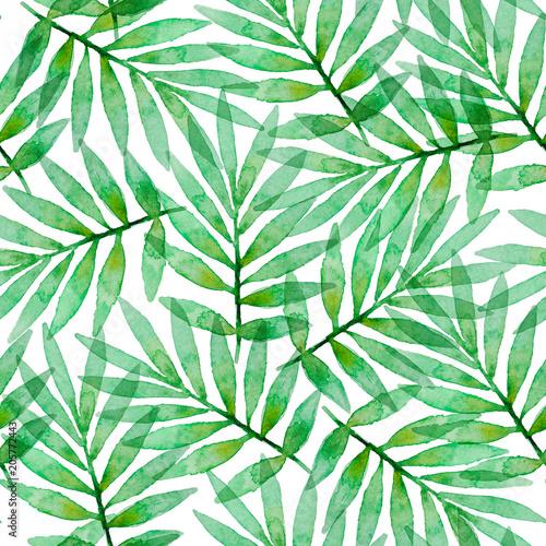 Materiał do szycia Tropikalne akwarela bezszwowe wzór