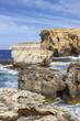 Dwejra Bay, a year after the collapse of Azure Window, San Lawrenz Gozo Malta