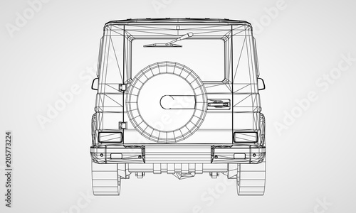Fotografia  Model of premium frame SUV with a classic design