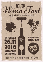 Wine Event Vintage Promotional...