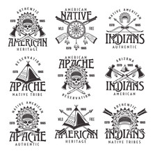 Native American Indians Emblem...