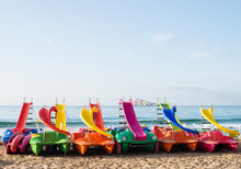 Pedal Boats On Benidorm Beach