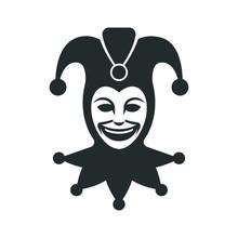 Joker Head. Jester Icon. Buffo...