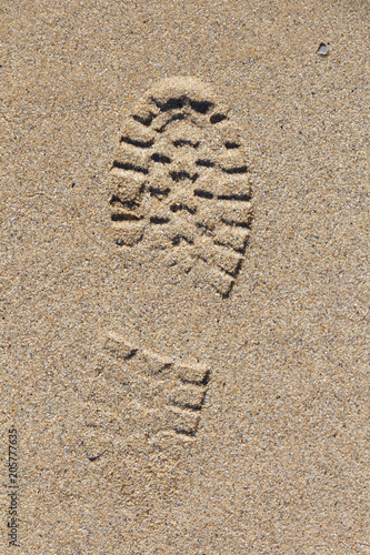 Fotografija  Empreinte de pas sur le sable