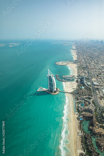 Recess Fitting Dubai Aerial view of Dubai coast line on a beautiful sunny day.