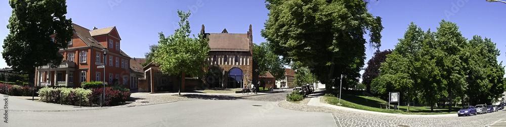 Foto  Panorama der historischen Altstadt Templin
