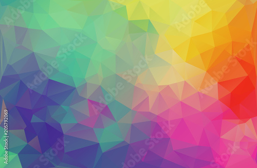 Flat design multicolor triangle wallpaper