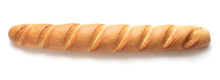 Single Long Baguette Isolated ...