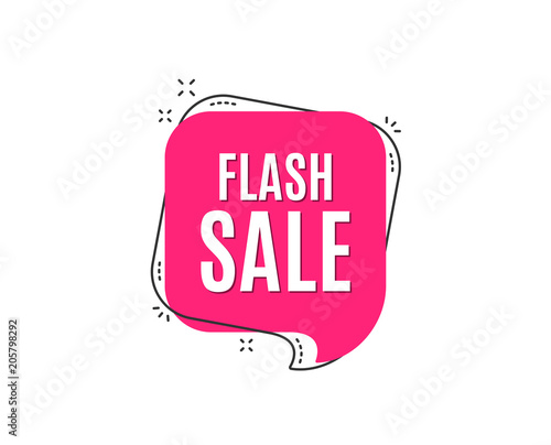 Obraz Flash Sale. Special offer price sign. Advertising Discounts symbol. Speech bubble tag. Trendy graphic design element. Vector - fototapety do salonu