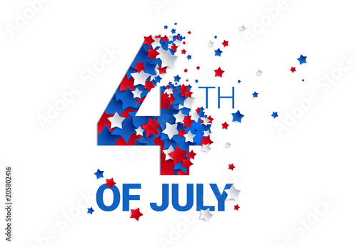 Fotografia  Fourth of July background - American Independence Day vector illustration - 4th