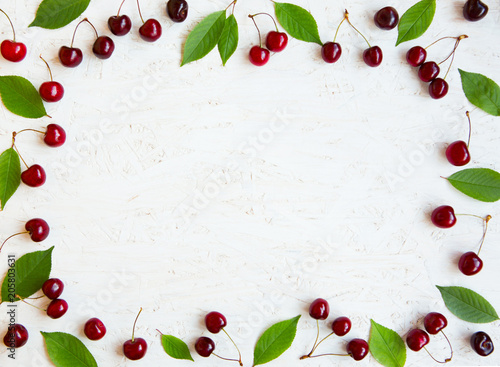 Beautiful cherry berries background