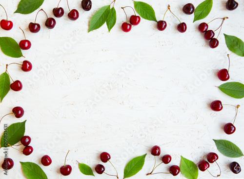 Beautiful cherry berries background
