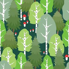 FototapetaPattern of the summer forest