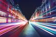 Leinwandbild Motiv Speed of light in London City