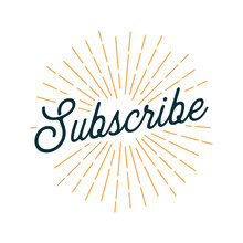 Subscribe Card With Light Rays