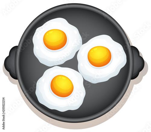 Photo sur Toile Jeunes enfants Sunny Side Up Eggs Breakfast