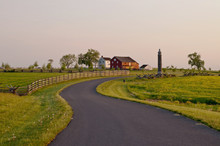 GETTYSBURG, PENNSYLVANIA 5-15-2018 Sickles Avenue Leading To The Klingle Farm Where Heavy Fighting Occurred During The Battle Of Gettysburg In 1863