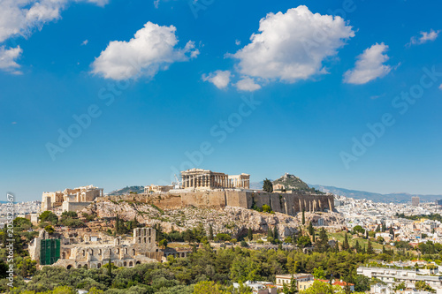 Parthenon, Acropolis of Athens, Greece at summer day