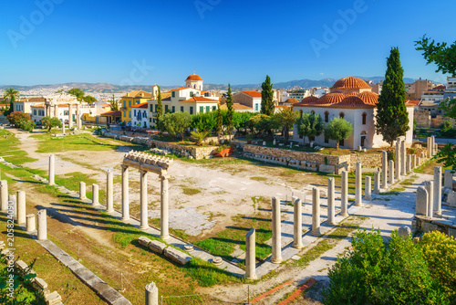Roman Agora and Byzantine church in Athens, Greece Wallpaper Mural