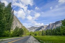 Yosemite Waterfall Spring Scene