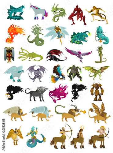 Leinwand Poster magical mythology creatures