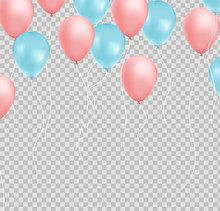 Bunch Of Balloons Pink And Blue