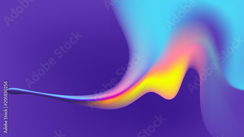 Fotografie, Obraz  fluid abstract colorful background