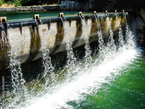 Keuken foto achterwand Dam City concrete dam on Bosna river in Sarajevo on a lovely summer day