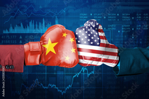Conflict between China and USA Wallpaper Mural