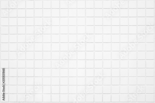 Fotografía  White tile wall texture background.Home and kicthen
