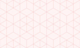 Backgrounds pattern seamless geometric sweet pink hexagon abstract and line vector design. Pastel color background. - 205832055