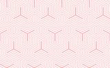 Tła deseniowy bezszwowy geometryczny słodki różowy abstrakt i kreskowy wektorowy projekt. Pastelowy kolor tła. - 205832075
