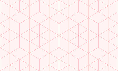 Backgrounds pattern seamless geometric sweet pink hexagon abstract and line v...