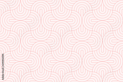 fototapeta na ścianę Backgrounds pattern seamless geometric sweet pink circle abstract and line vector design. Pastel color background.